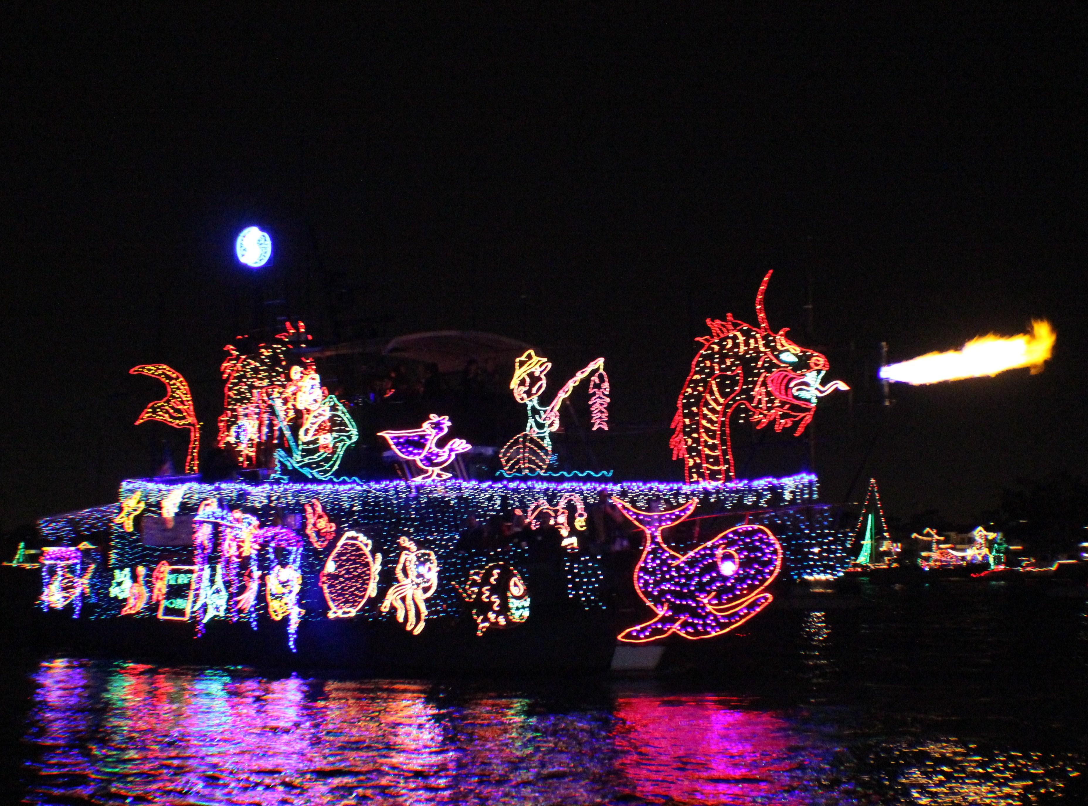 Balboa Island Newport Beach Boat Parade Of Lights
