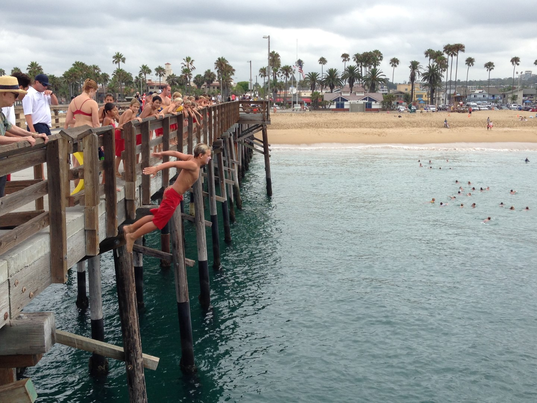 Balboa Island 2017 Newport Beach Junior Guards Pier Jumping Photos