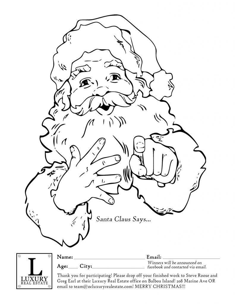 Christmas Coloring Contest - Balboa Island